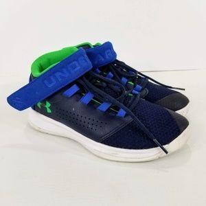 Under Armour Basketball Shoes Boys 2 Blue Green